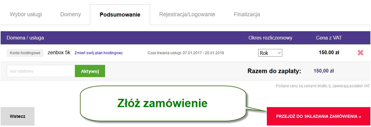zenbox zamówienie