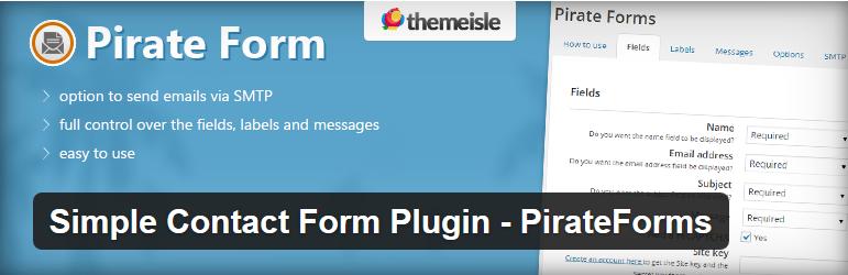Pirate Forms - 12 najlepszych wtyczek WordPress
