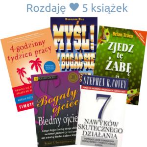 Rozdaję 5 książek od Kierunek Wolność